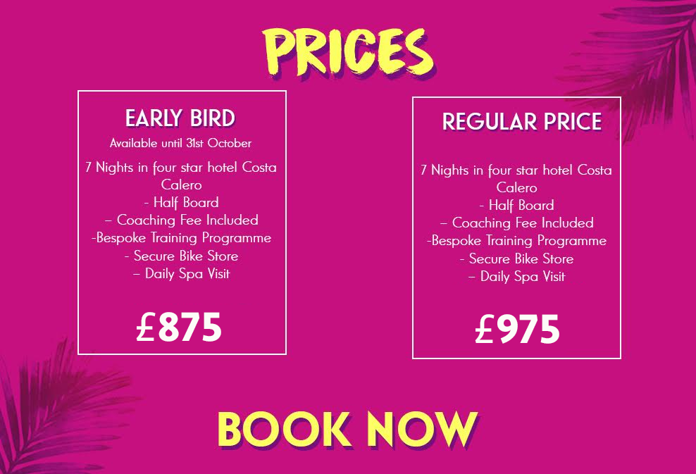 triathlon camp 2020 prices
